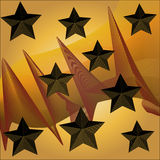 Fantasy background with 3d stars. Background with stars and pointy things Stock Images