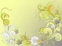 Fantasy background with flowers Royalty Free Stock Photos