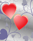 Fantasy background with hearts Royalty Free Stock Photos