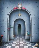 Fantasy Background With Arch