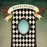 Fantasy background Wonderland vector illustration