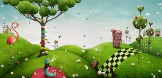 Fantasy background Wonderland Stock Photography