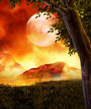 Fantasy Landscape. Fantasy background for your artistic creations and/or projects Royalty Free Stock Image