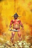 Fantasy barbarian warrior vector illustration