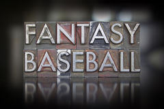 Fantasy Baseball Letterpress Stock Photos