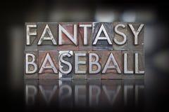 Fantasy Baseball Letterpress Stock Photos