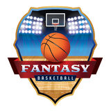 Fantasy Basketball Emblem Badge Illustration Stock Photography