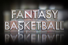 Fantasy Basketball Letterpess Royalty Free Stock Image