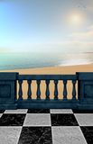 Fantasy Beach View Stock Photography