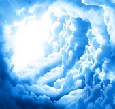 Fantasy beautiful clouds Stock Image