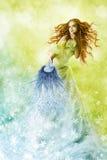 Fantasy beauty, fashion woman change makeup Royalty Free Stock Photography
