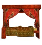 Fantasy bed Stock Photo