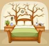 Fantasy bedroom interior. Vector illustration. Royalty Free Stock Image