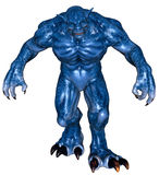 Fantasy big monster. 3D rendered fantasy creature on white background isolated Royalty Free Stock Photography