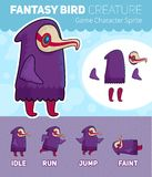 Fantasy Bird creature Game Character Sprite Sheet Stock Photo