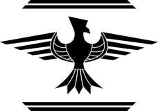 Fantasy bird. stencil Royalty Free Stock Photo