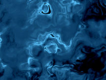 Fantasy Black And Blue Alien Fluid Surface Stock Photography