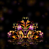 Fantasy black bright background space Stock Images