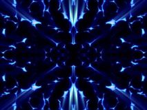 Fantasy blue cells in bright blue background Stock Images