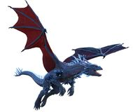 Fantasy blue crystal dragon Stock Photography