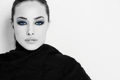 Fantasy blue eyes Stock Image