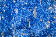 Fantasy blue glitter Christmas background. Stock Photo