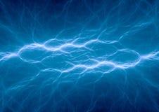 Fantasy blue lightning. Electric power Royalty Free Stock Image