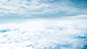 Fantasy blue sky and beautiful clouds royalty free stock image