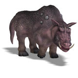 Fantasy boar with huge tusks Stock Image