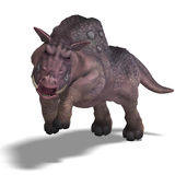 Fantasy boar with huge tusks. 3D rendering of a fantasy boar with huge tusks with clipping path and shadow over white Royalty Free Stock Photos