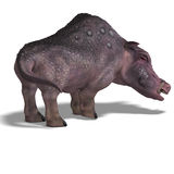 Fantasy boar with huge tusks Stock Photos