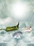 Fantasy boat stock illustration