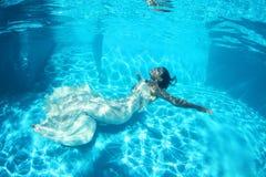 Fantasy bride underwater Royalty Free Stock Images