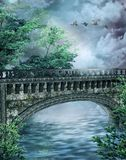 Fantasy bridge 3 stock illustration