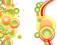 Fantasy bubbles and circles composition card Stock Image