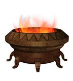 Fantasy burner. 3D render of a fantasy burner with flames Royalty Free Stock Photography
