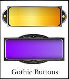 Fantasy buttons. Fantasy web  buttons, two styles Royalty Free Stock Photo