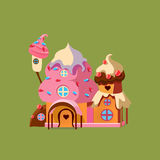 Fantasy Candy House. Vector Illustartion Stock Images