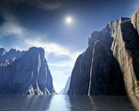 Fantasy Canyon. An image of a nice fantasy canyon Royalty Free Stock Image
