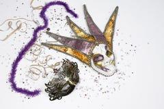 Fantasy carnival masks Stock Images
