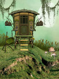Fantasy Carriage. In a field Royalty Free Stock Photo