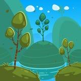 Fantasy Cartoon Landscape Royalty Free Stock Photo