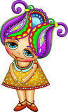 Fantasy cartoon little girl Royalty Free Stock Photography