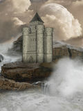 Fantasy castle Stock Images