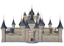 Fantasy castle. 3D render of a fantasy castle with towers Stock Image