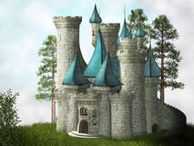 Fantasy castle Royalty Free Stock Images