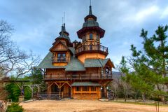 Gothic Castle. Fantasy castle built in the Ozark Mountains Stock Photography