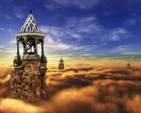 Fantasy, Castle, Cloud, Sky, Tower Royalty Free Stock Image