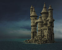 Fantasy castle Stock Photography