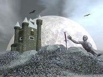 Fantasy castle - 3D render Stock Image